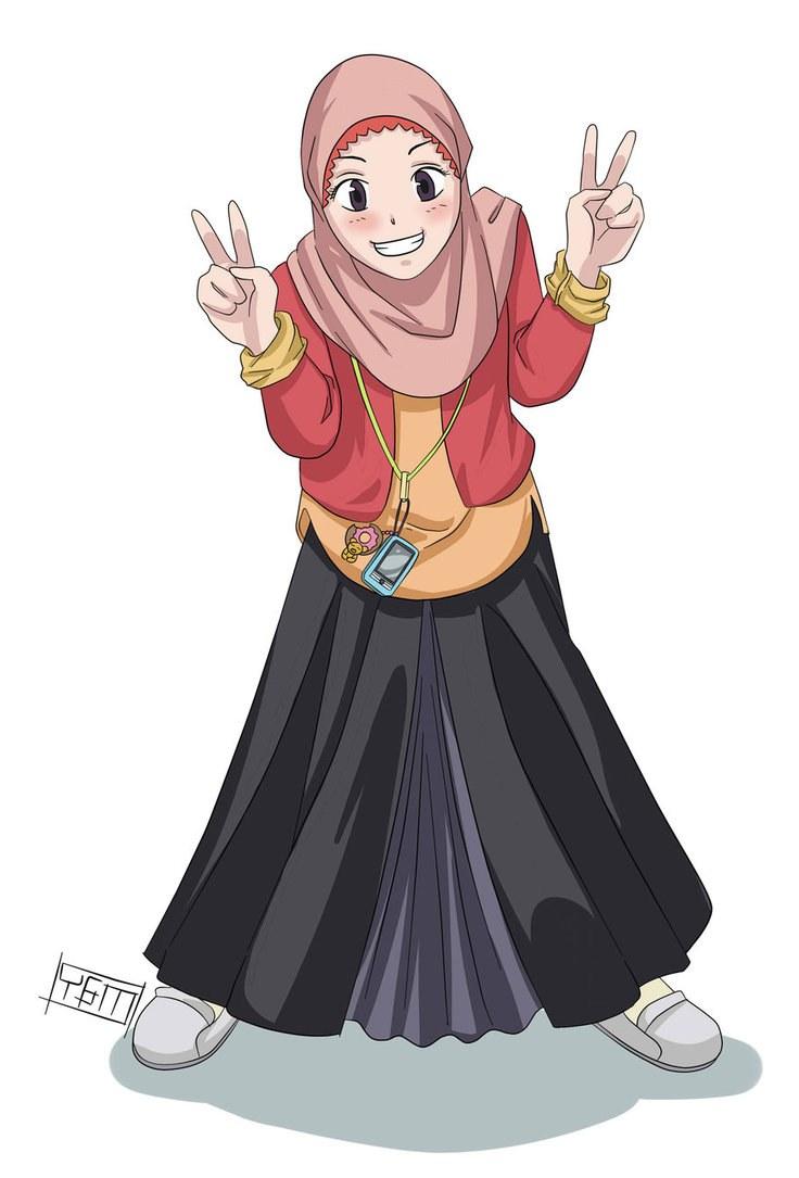 Design Muslimah Kartun T8dj Wallpaper Gambar Kartun Muslimah Keren Terbaru