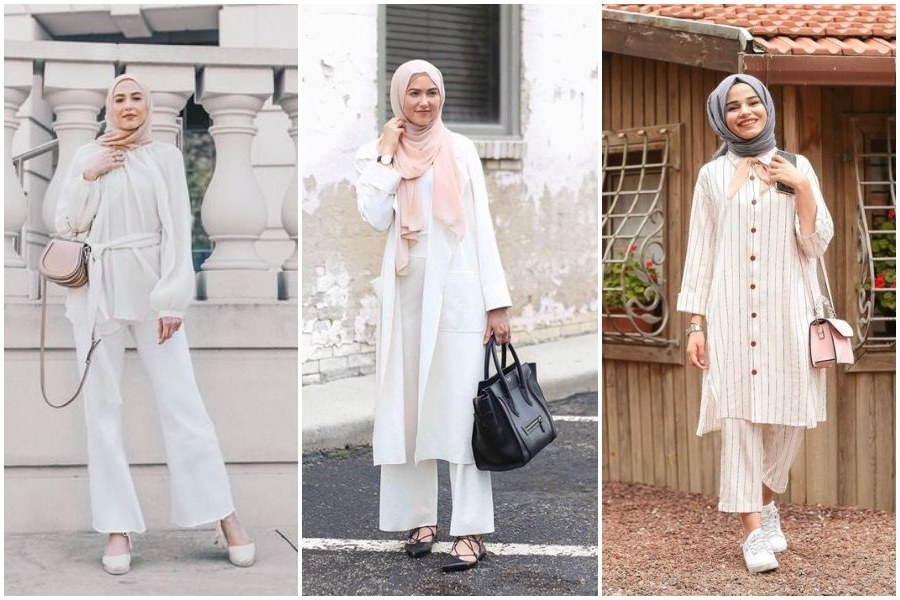Design Ootd Baju Lebaran Remaja 2020 Q5df 9 Ootd Hijab Dengan Baju Putih Yang Stylish Dan Cocok