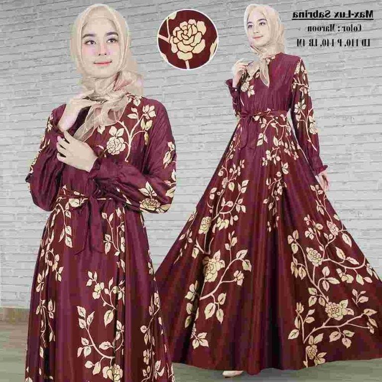 Design Poto Baju Lebaran Ffdn Model Gamis Lebaran Terbaru 2018 Maxmara Sabrina Marun