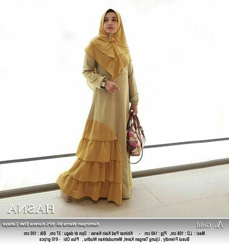 Design Poto Baju Lebaran J7do Model Gamis Lebaran Terbaru Hasna Gold Model Baju Gamis