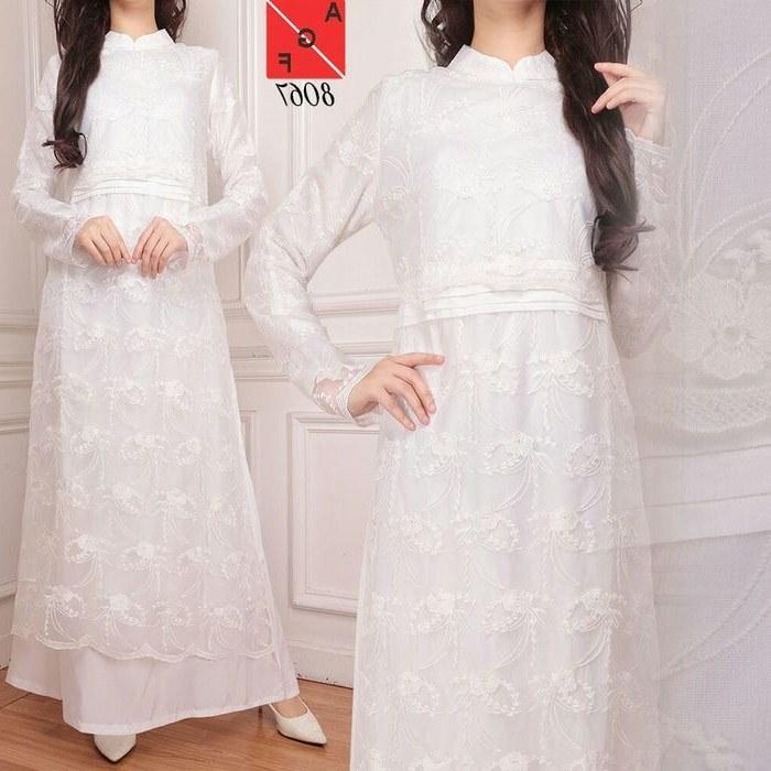 Design Warna Baju Lebaran 2018 Drdp Trend Gamis Lebaran 2018 Warna Putih Af8067 Model Baju