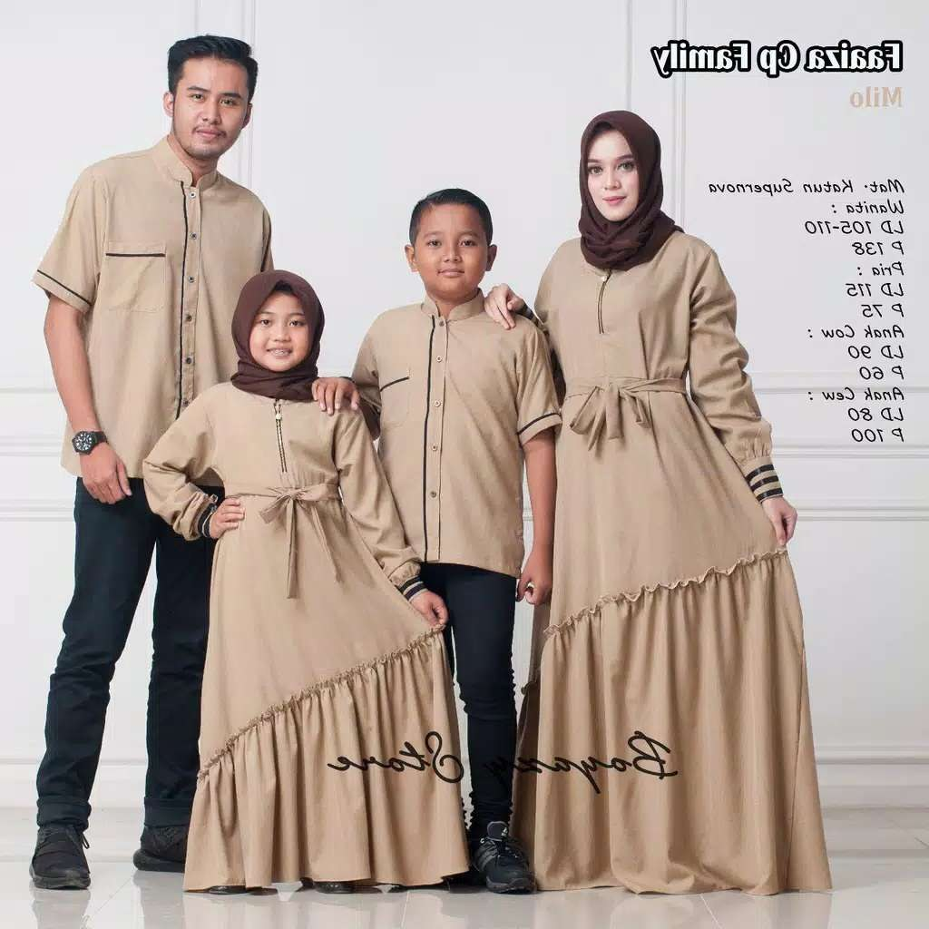Design Warna Baju Lebaran 2019 Keluarga U3dh Couple Keluarga Faaiza ori by Boyazy Katalog Bajugamismu