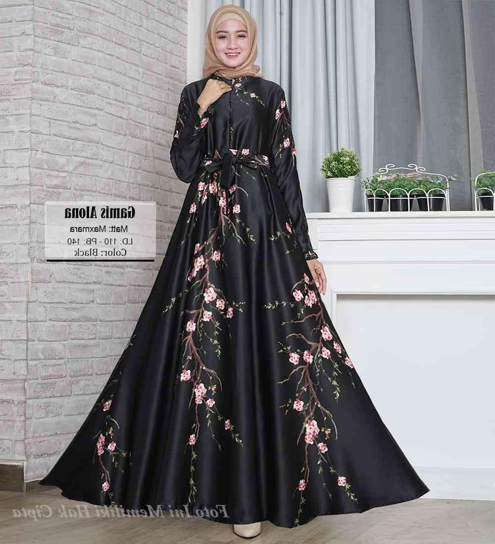 Design Warna Baju Lebaran 2019 Wddj Model Gamis Warna Hitam 2019