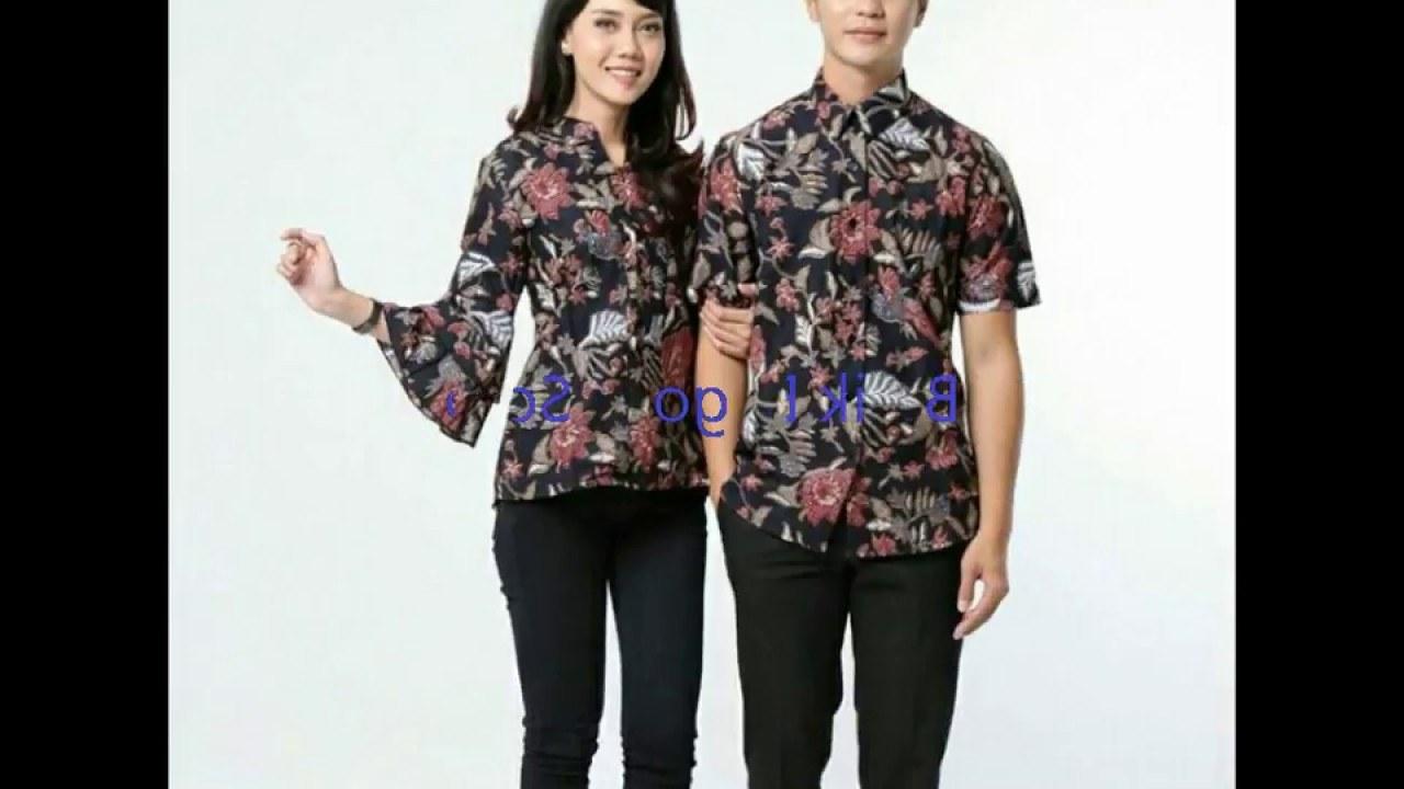 Ide Baju Lebaran 2018 Pria 87dx Baju Batik Wanita Pria Modern Terbaru Couple 2018