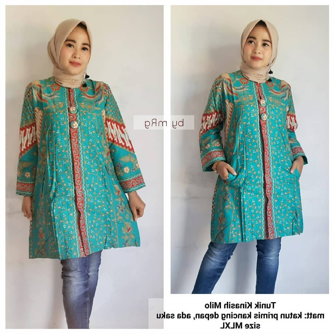Ide Baju Lebaran 2019 Wanita Nkde 48 Model Baju Batik atasan Wanita Terbaru 2019 Model