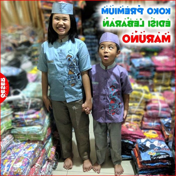 Ide Baju Lebaran Anak 1 Tahun 9ddf Jual Baju Muslim Anak Premium 5 12 Tahun Maruno Motif