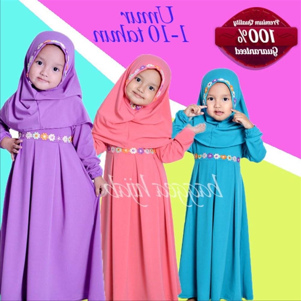 Ide Baju Lebaran Anak Perempuan Umur 10 Tahun Irdz Jual Baju Muslim Gamis Anak Perempuan Lucu Syakira Model