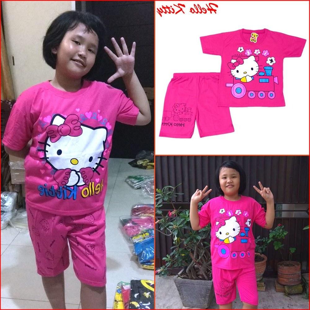 Ide Baju Lebaran Anak Usia 10 Tahun Etdg Jual Baju Anak Perempuan Hello Kitty Setelan Anak Frozen