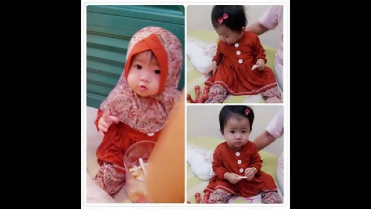 Ide Baju Lebaran Bayi Perempuan Tldn Baju Muslim Bayi Usia 1 Tahun I Gamis Bayi