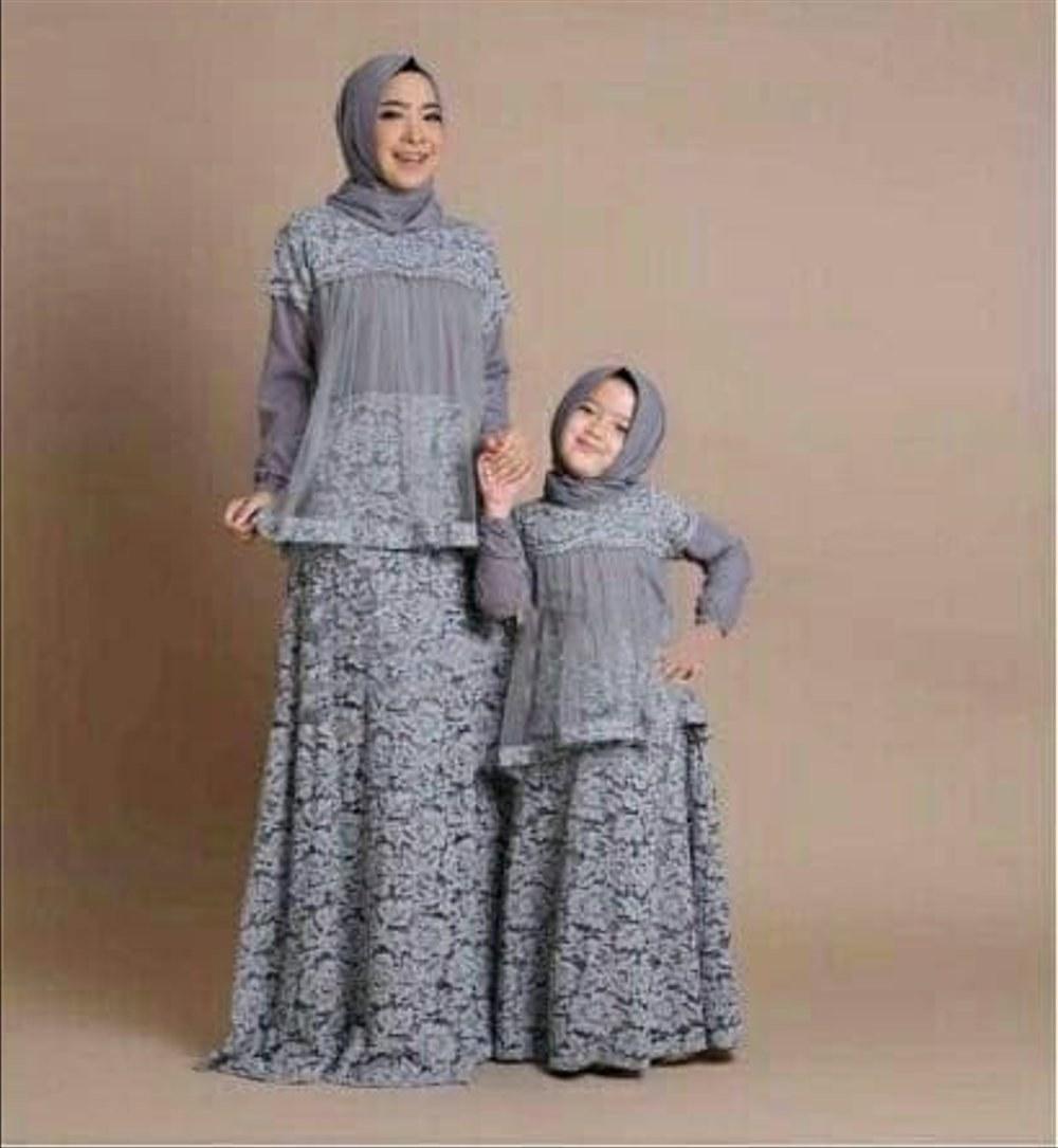 Ide Baju Lebaran Brokat Jxdu Jual Baju Lebaran Couple Ibu Anak M Fit L Sewina Grey