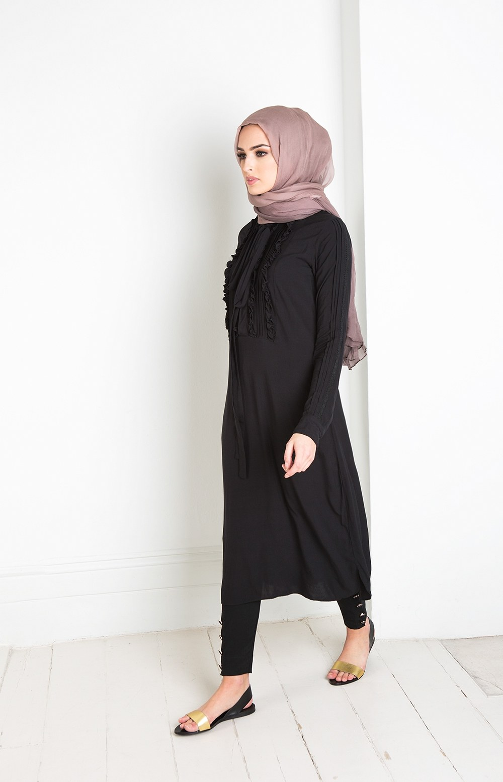 Ide Baju Lebaran Casual O2d5 25 Trend Model Baju Muslim Lebaran 2018 Simple & Modis