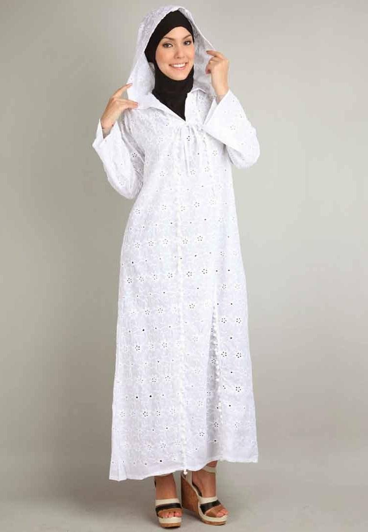 Ide Baju Lebaran Hitam S1du 30 Model Gamis Putih Mewah Modern Elegan Brokat