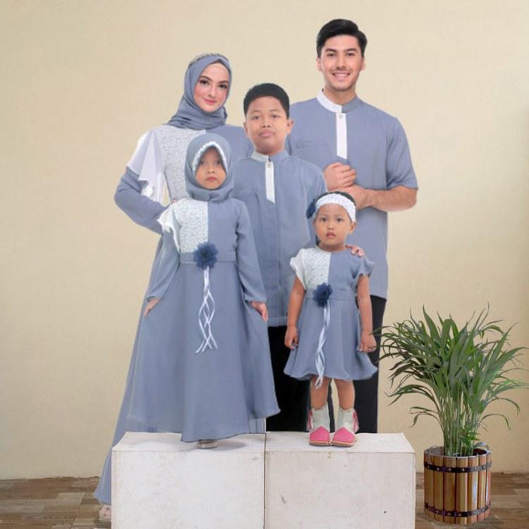 Ide Baju Lebaran Keluarga Besar Qwdq 30 Model Gamis Couple Keluarga Modern Elegan Terbaru