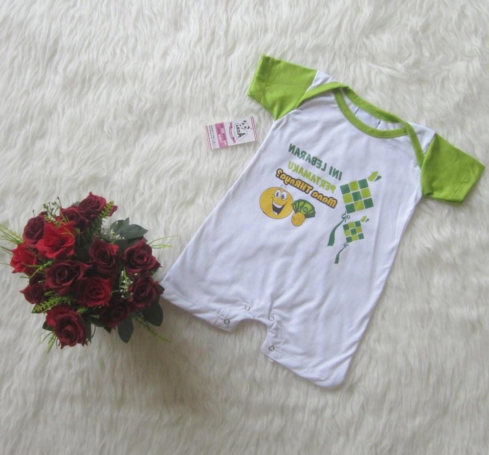 Ide Baju Lebaran Lucu Txdf Jual Baju Bayi Lebaran Romper Lucu Di Lapak Azura Baby