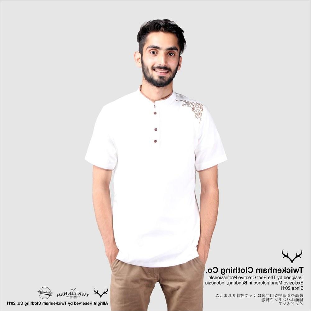 Ide Baju Lebaran Pria Keren Jxdu Jual Koko Putih Baju Koko Koko Lebaran Baju Muslim Pria