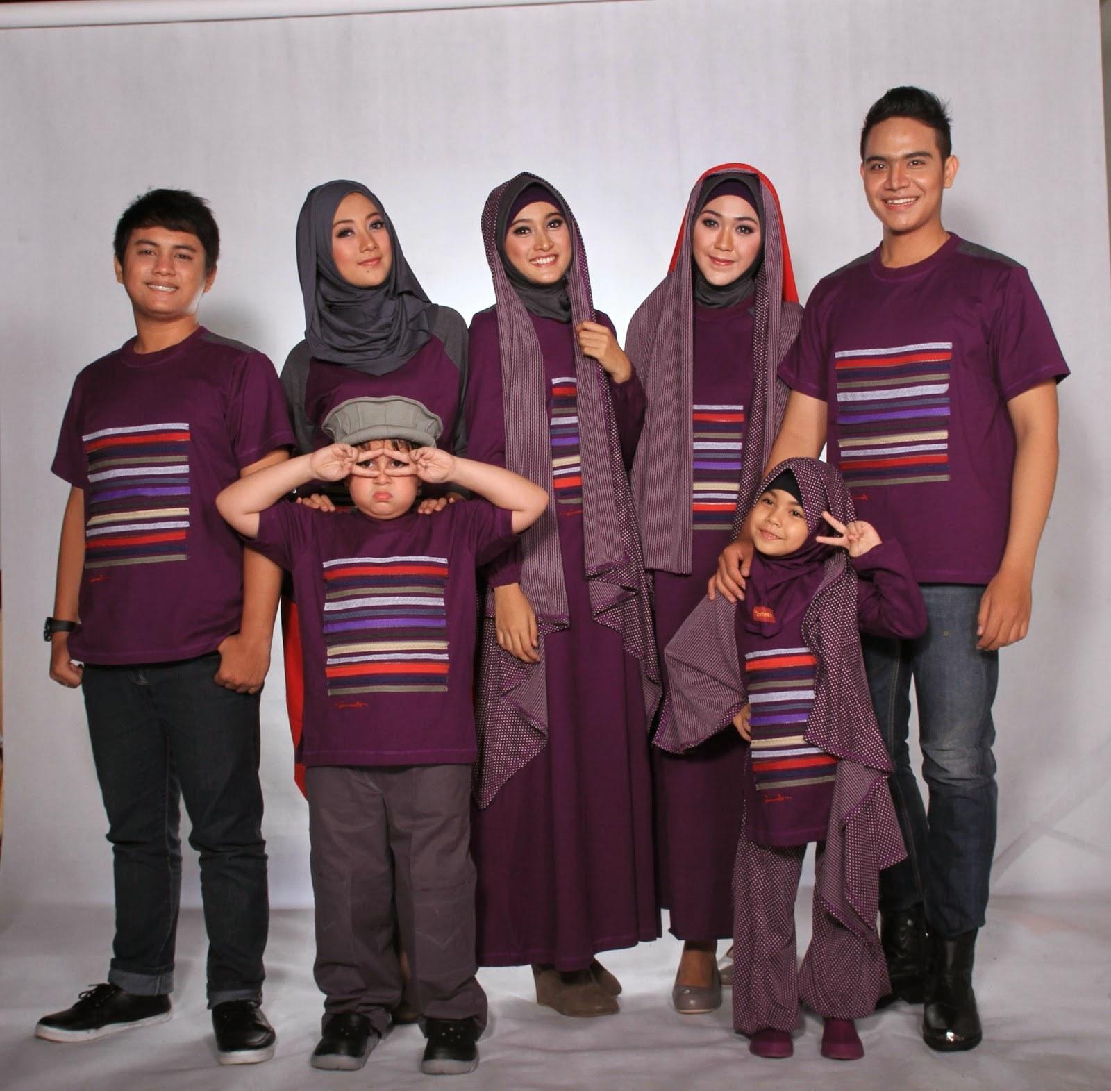 Ide Baju Lebaran Sekeluarga Irdz Model Baju Pesta Modern Terbaru Lengan Pendek Muslim