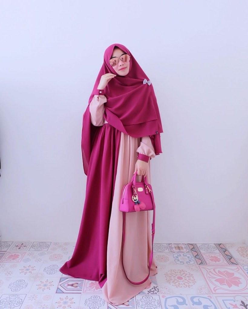 Ide Baju Lebaran Syari Ffdn Kerudung Syar'i Terbaru 2019 Tampilkan Model Keren