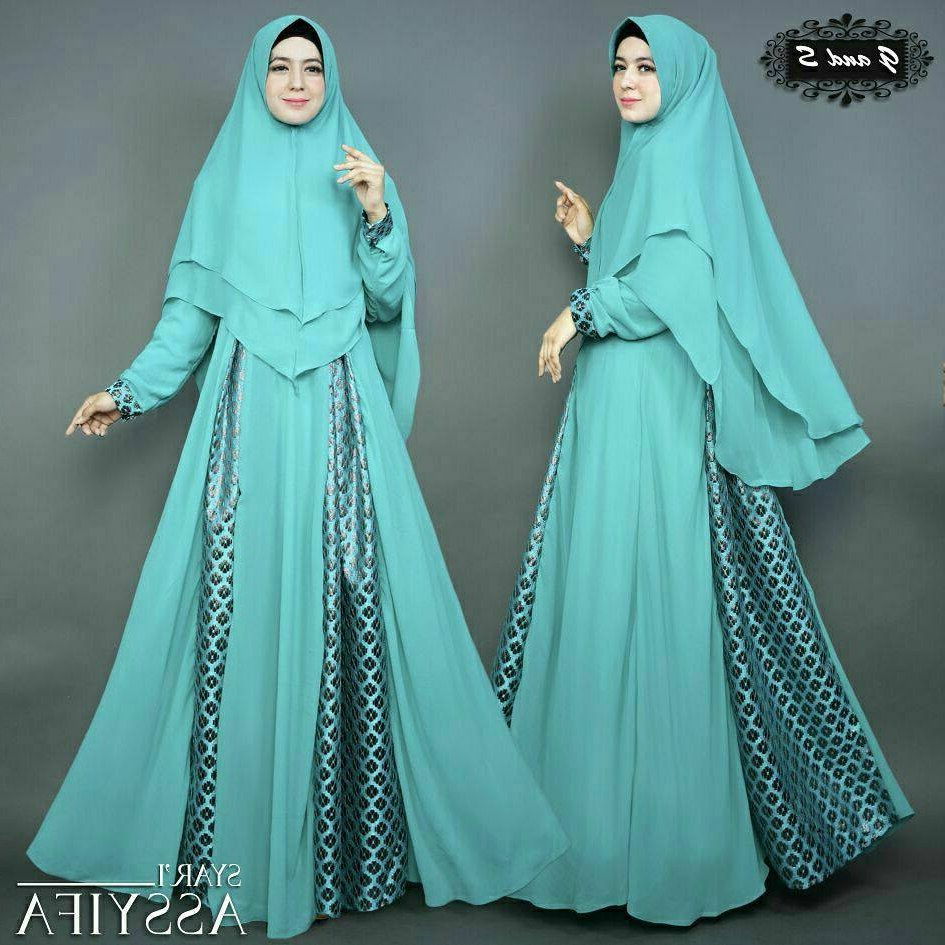 Ide Baju Lebaran Syari Ipdd Trend Gamis 2018 Busana Muslim Branded Nomiq Store Wa