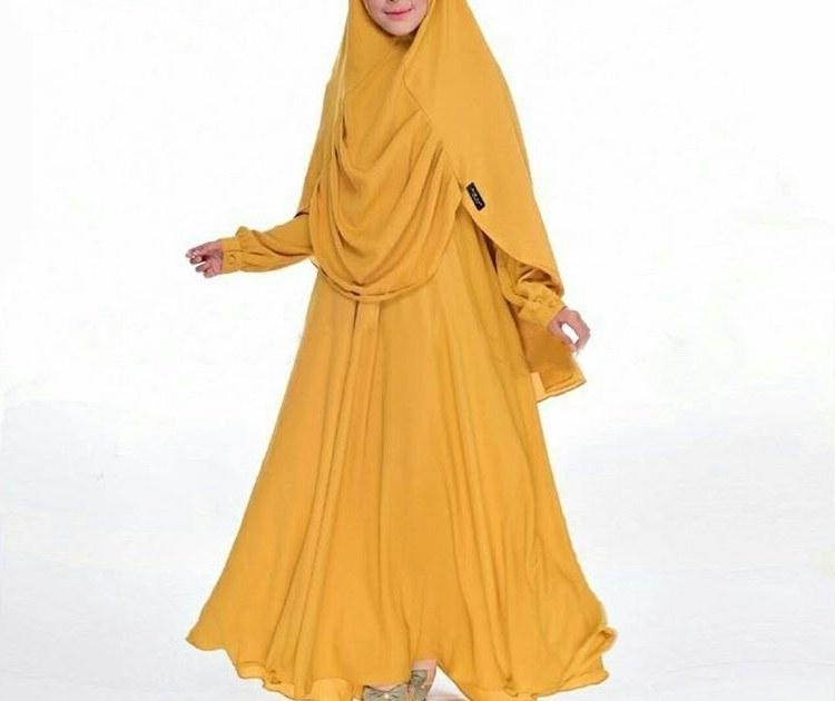 Ide Baju Lebaran Syari Q5df Baju Gamis Syari Lebaran Humaira Mustard Baju Gamis