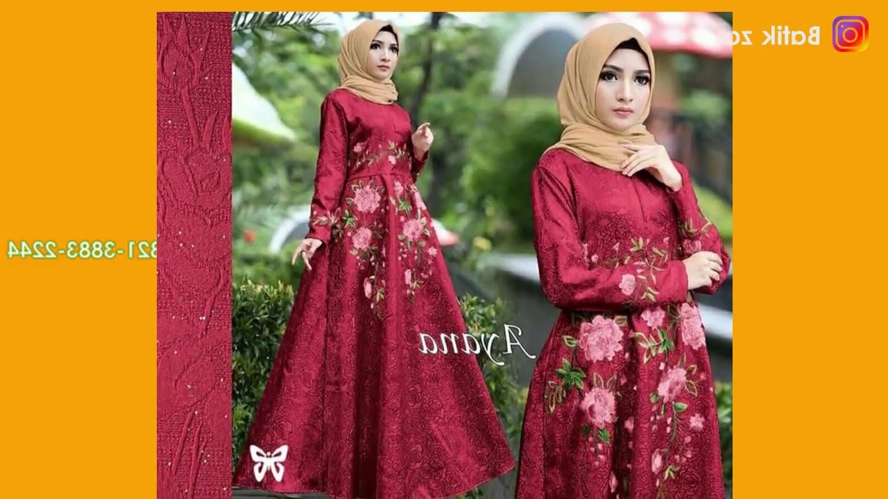 Ide Baju Lebaran Syari Tqd3 Model Gamis Terbaru Baju Lebaran 2018 Model Kekinian Hijab