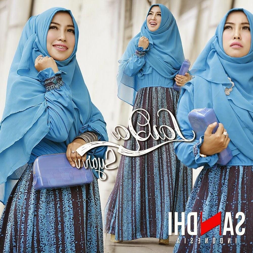 Ide Baju Lebaran Syari Wddj Model Baju Gamis Terbaru Edisi Lebaran Laiqa Syar by Sandhi