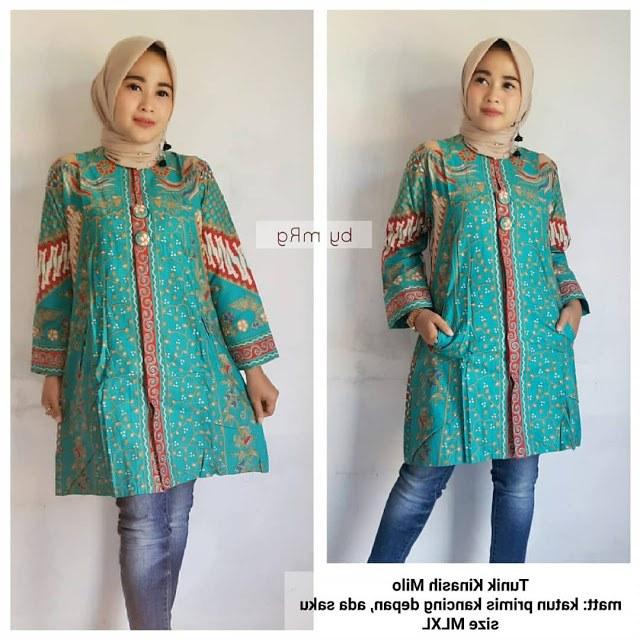 Ide Baju Lebaran Wanita Terbaru 2019 Etdg 48 Model Baju Batik atasan Wanita Terbaru 2019 Model