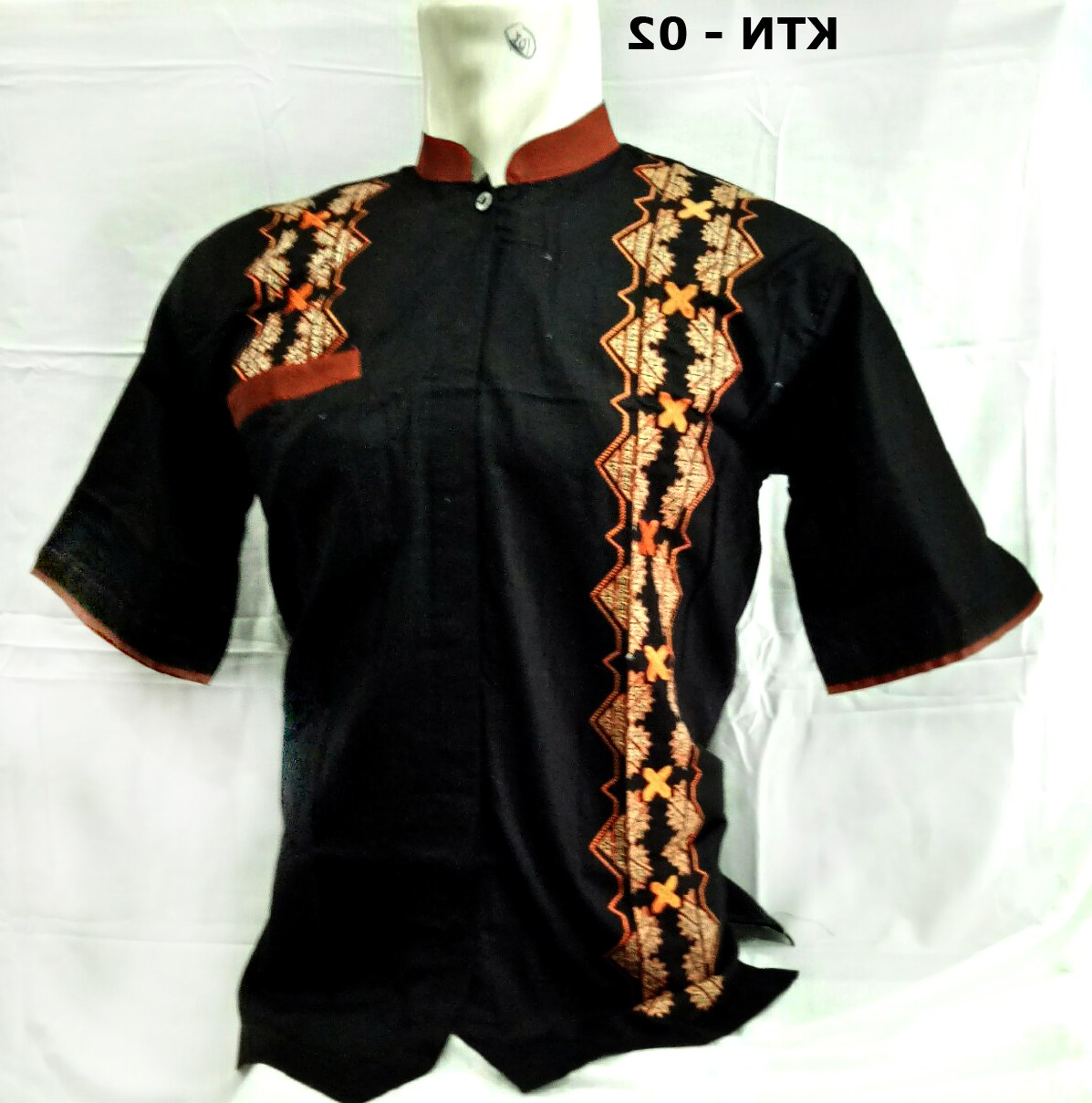Ide Baju Lebaran Warna Hitam 9ddf Model Baju Koko Terbaru Lebaran 2018 Lengan Pendek Murah