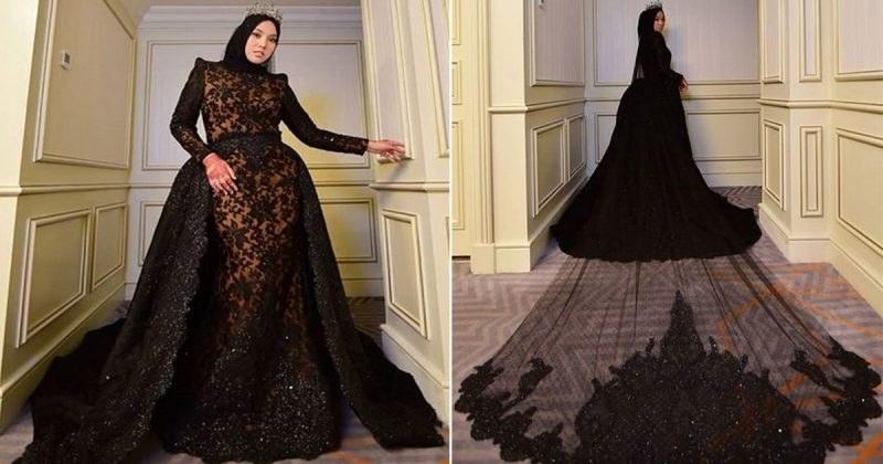 Ide Baju Lebaran Warna Hitam Ffdn tolak Tradisi Warna Baju Pengantin Shila Amzah Pilih Gaun