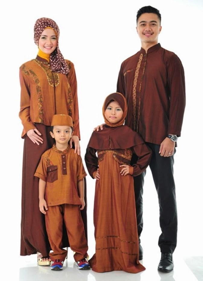 Ide Contoh Baju Lebaran Keluarga 3id6 25 Model Baju Muslim Pesta Sarimbit Keluarga Modern 2018