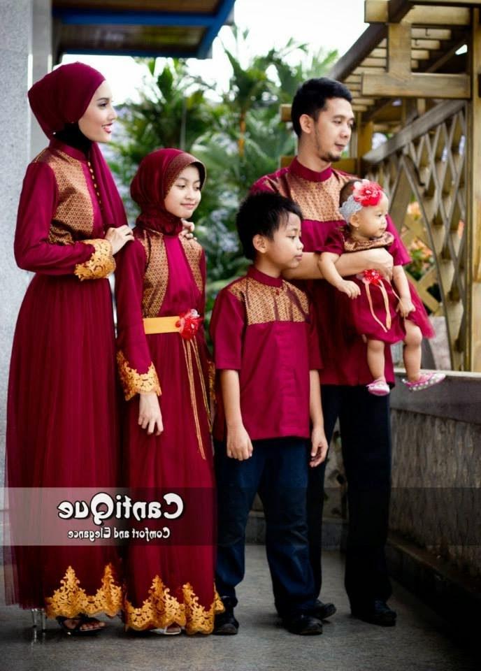 Ide Contoh Baju Lebaran Keluarga T8dj Inspirasi 8 Model Baju Seragam Muslim Keluarga