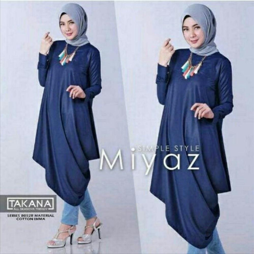Ide Fashion Muslim Terbaru D0dg Jual Miyaz Tunik Navy Baju Muslim Wanita Kekinian Fashion