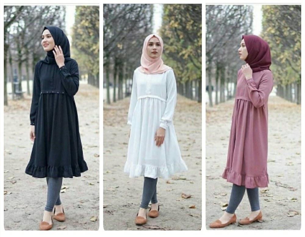 Ide Fashion Muslim Terbaru Drdp Jual Wina Tunik Fashion Muslim Terbaru Baju Tunik Mutiara