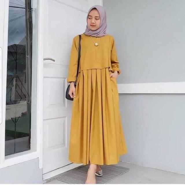 Ide Fashion Muslimah S5d8 Ready Stock Baju Muslim Muslimah Fashion Casual Long Jubah