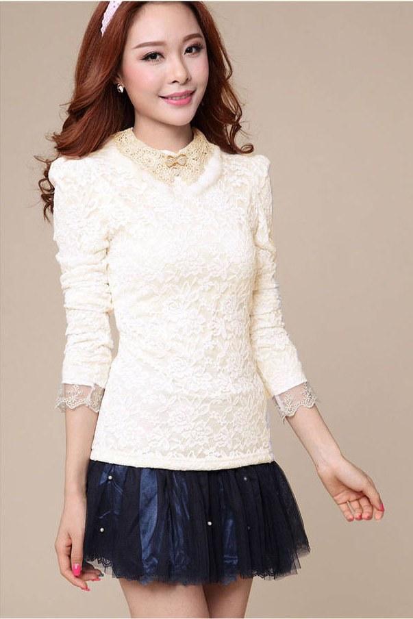 Ide Model Baju Lebaran atasan 3ldq Baju atasan Wanita Brokat Cantik Import