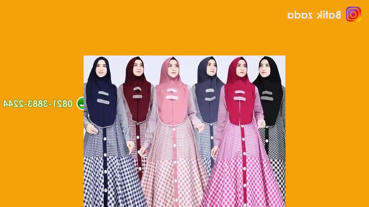 Ide Model Baju Lebaran Sekeluarga 2018 3id6 Model Gamis Terbaru Baju Lebaran 2018 Model Modern Hijab