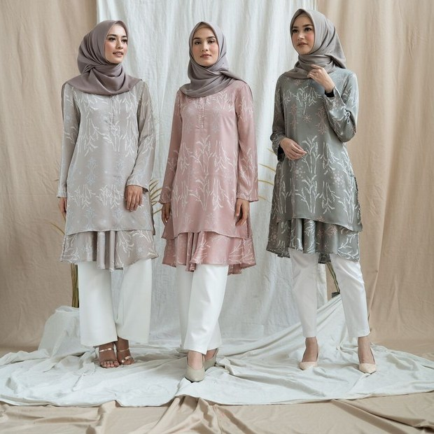 Ide Model Baju Lebaran Th Ini Xtd6 Tren Baju Lebaran Di Instagram Semua Kompak Jual Warna Ini