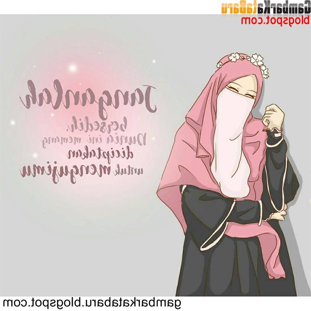 Ide Muslimah Bercadar Ftd8 Download Gambar Kartun Muslimah Bercadar Dan Kata Mutiara