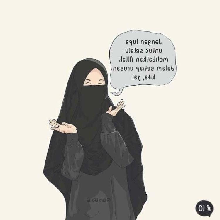 Ide Muslimah Bercadar Menangis Ipdd 300 Gambar Kartun Muslimah Bercadar Cantik Sedih Keren