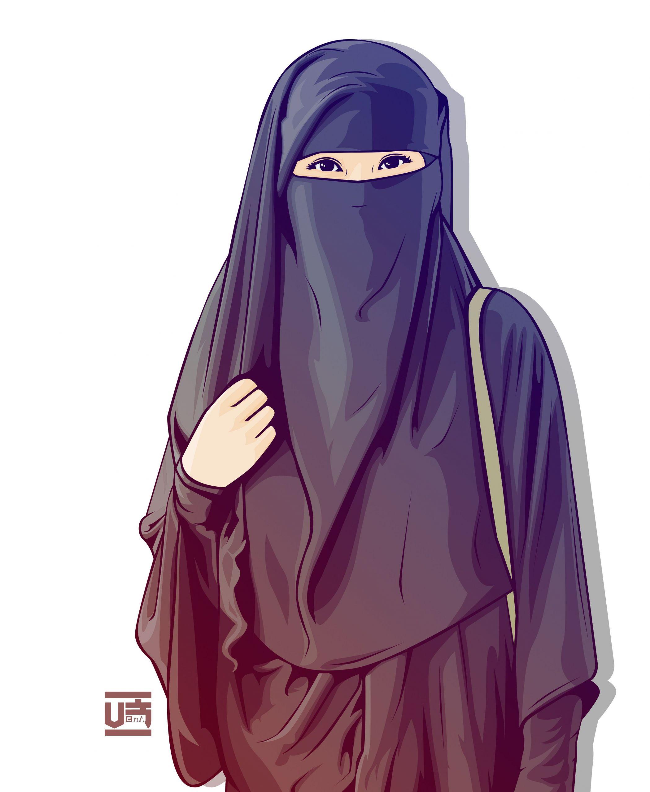Ide Muslimah Bercadar Thdr Hijab Vector Niqab Ahmadfu22