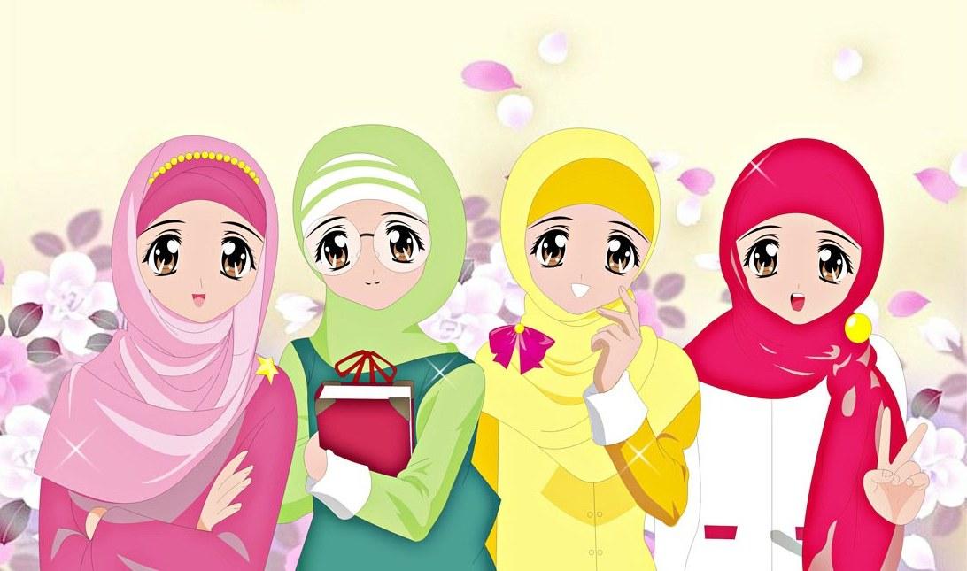 Ide Muslimah Kartun Keren Ftd8 Wallpaper Gambar Kartun Muslimah Keren Terbaru