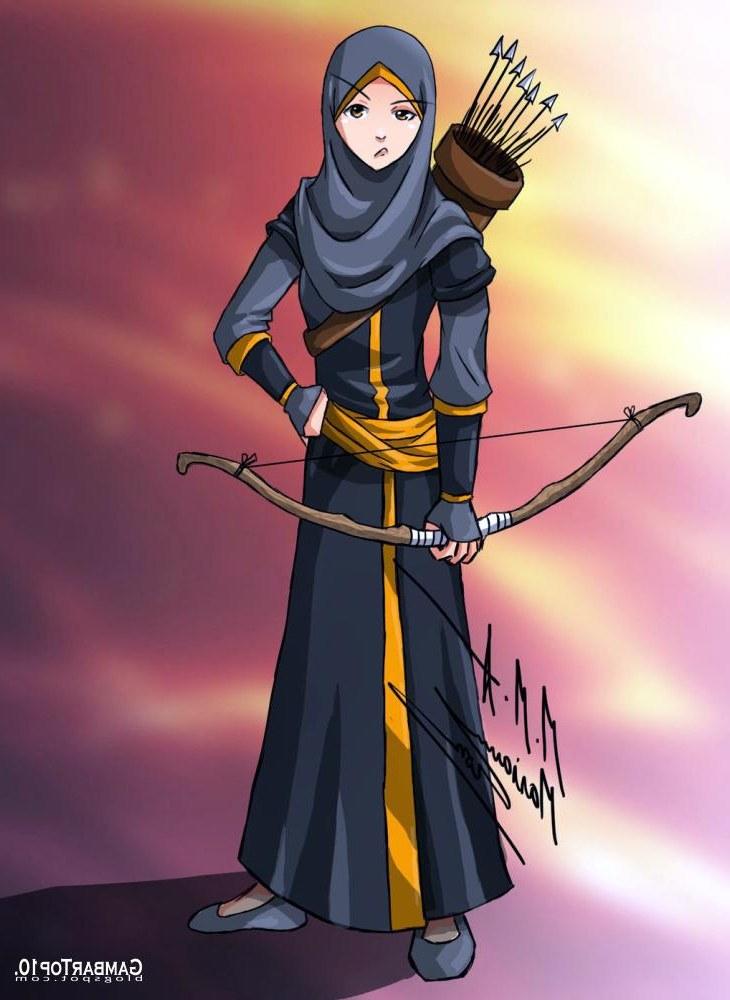 Ide Muslimah Kartun Keren Gdd0 10 Gambar Kartun Muslimah