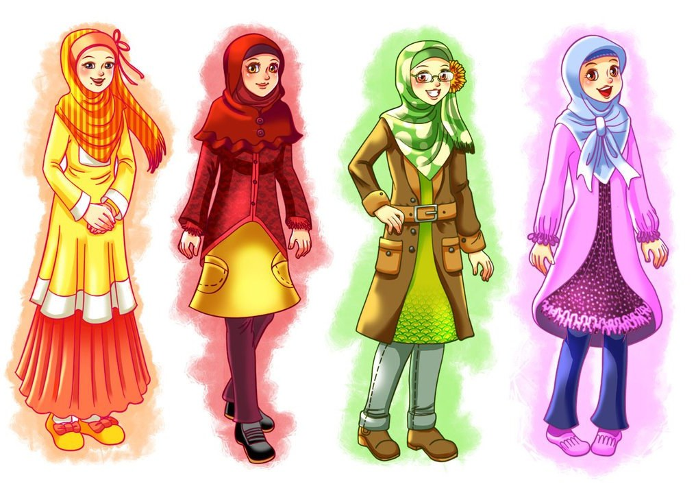 Ide Muslimah Kartun Keren J7do Wallpaper Gambar Kartun Muslimah Keren Terbaru