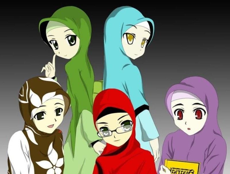 Ide Muslimah Kartun Sahabat 4pde 30 Gambar Kartun Muslimah Bercadar Syari Cantik Lucu