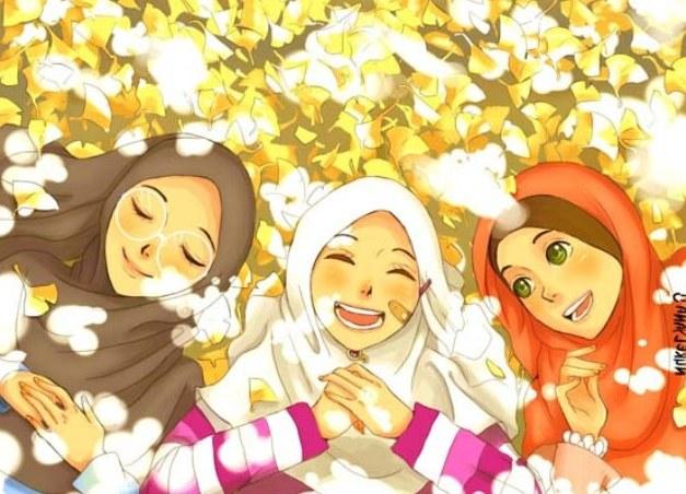 Ide Muslimah Kartun Sahabat 87dx Gambar Kartun Muslimah Berdo A Bergerak El