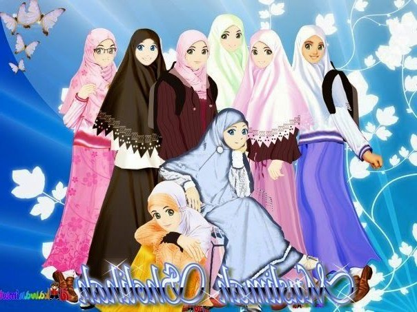 Ide Muslimah Kartun Sahabat Dwdk Gambar Kartun Muslimah Sahabat 5 orang Penelusuran