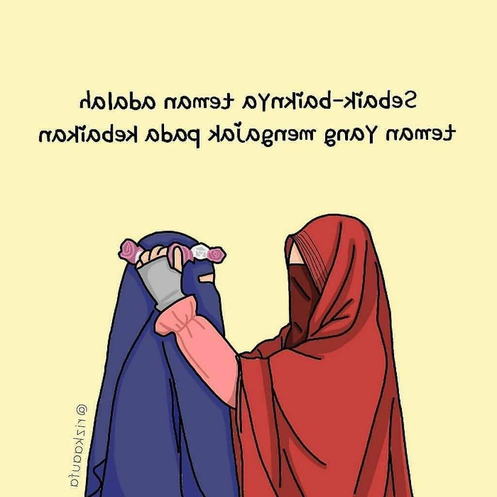 Ide Muslimah Kartun Sahabat Jxdu 300 Gambar Kartun Muslimah Bercadar Cantik Sedih Keren