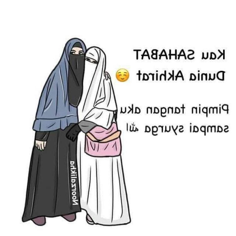 Ide Muslimah Kartun Sahabat Qwdq 300 Gambar Kartun Muslimah Bercadar Cantik Sedih Keren