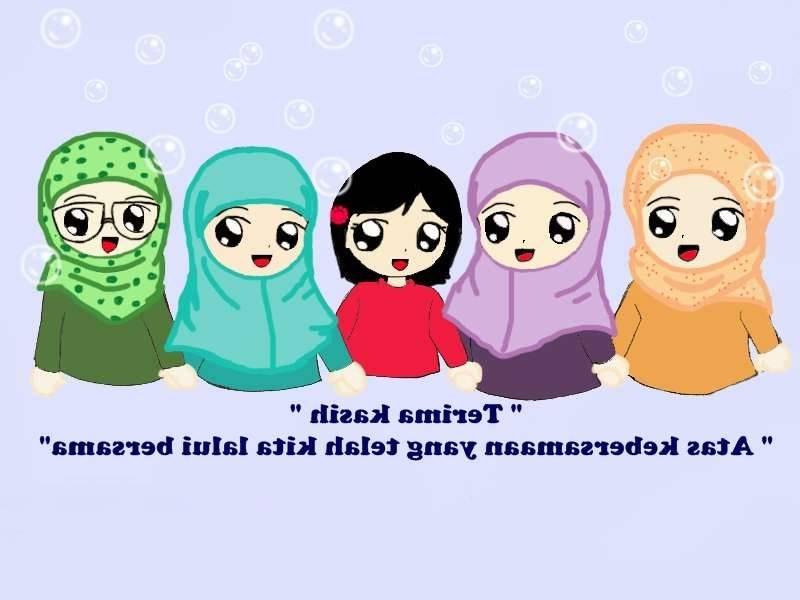 Ide Muslimah Kartun Sahabat T8dj 12 Kartun Persahabatan Muslimah Anak Cemerlang