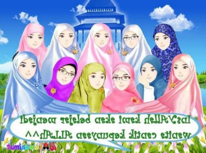Ide Muslimah Kartun Sahabat Thdr 12 Kartun Persahabatan Muslimah Anak Cemerlang