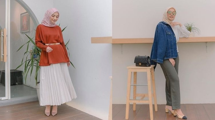 Ide Ootd Baju Lebaran Dddy 10 Ide Busana Hijab Ala Mega iskanti Untuk Silaturahmi